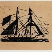 Lyonel Feininger New York 1871 - 1956 Alte Brigantine, Schätzpreis:2.400 - 2.600 EUR Zuschlagspreis:4.500 EUR