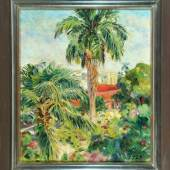 "Putz, Leo, 1869 - 1940 Meran Öl/Lwd, 71 x 60,5 cm, rücks. betit. "" Garten in Habana "", Mindestpreis:8.000 EUR"