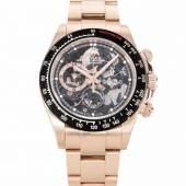 """Rolex Daytona """"LA BARRICHELLO"""" Limited Edition, Artisans de Genève Runder, automatischer Chronograph 2019 in 750 Roségoldgehäuse mit Armband ca. 160 g.  Schätzpreis:80.000 - 120.000 CHF"""