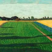 Félix Vallotton (1865–1925) Les champs, plateau de la Croix-Rouge 1914 Öl auf Leinwand 56 x 96 cm  Schätzpreis:600.000 - 800.000 CHF
