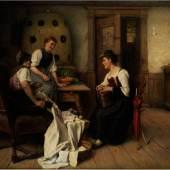 Alexander Koester, 1864 Bergneustadt - 1932 München JAHRMARKTHERZL ÖL auf Leinwand. 110 x 144 cm.  Schätzpreis:35.000 - 45.000 EUR