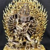 Yamatanka, Überwinder des Todes, tantrische Form des Avalokiteshvara und Shakti. Aufrufpreis:3.000 EUR