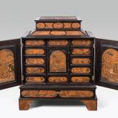 Kabinettschrank, Meister mit dem ornamentierten Hintergrund, Eger, Mitte 17. Jh. Schätzpreis:30.000 - 60.000 EUR