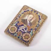 ZIGARETTENETUI, 84/oo, innen vergoldet, allseitiger Cloisonnédekor, Mindestpreis:1.000 EUR