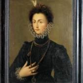 Alonso Sanchez Coello, Portrait der spanischen Infantin Katharina Michaela von Habsburg, Ölgemälde um 1580/85  Aufrufpreis:9.000 EUR Schätzpreis:45.000 - 50.000 EUR