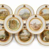 Acht Dessertteller aus dem Hochzeitsservice des Erbprinzen Ernst von Sachsen-Coburg und Gotha und de  Schätzpreis:6.000 - 8.000 EUR
