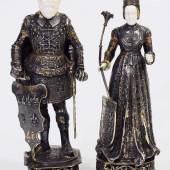 """Kaiserpaar """"Heinrich und Kundigunde"""", Schutzpatrone des Erzbistums Bamberg, zugeschrieben Kaiserpaar """"Heinrich und Kundigunde"""", Schutzpatrone des Erzbistums Bamberg, zugeschrieben. Mindestpreis:1.300 EUR"""