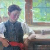 "Jacoby, Meinhard (1873 Wien - 1956 Paraíba do Sul/Brasilien)  """"""Mädchen am Fenster"""" Aufrufpreis:1.000 EUR"