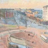 002 Amiet, Cuno 1868 Solothurn - 1961 Oschwand. «Boulevard Brune» - Pariser Straßenszene. Öl auf Leinwand, Limit: 90000,- EUR
