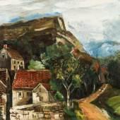Vlaminck, Maurice de 1876 Paris - 1958 Rueil-la-Gadelière. «Vue de Village». Mindestpreis:15.000 EUR