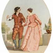 """Hodler, Ferdinand (Bern 1853–1918 Genf) """"Der Tanz"""", 1878. Öl auf Leinwand.  Schätzpreis:6.000 - 8.000 CHF"""