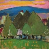 """Alexej von Jawlensky (Torschok 1864 – 1941 Wiesbaden) """"Landschaft mit Bäumen"""" (Murnau). Um 1909 Schätzpreis:300.000 - 400.000 EUR"""