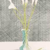 """Hockney, David (Bradford 1937) """"Lilies"""". 1971. Farblithographie. 32/65.  Schätzpreis:5.000 - 7.000 CHF"""