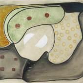 """Winter, Fritz (Altenbögge 1905–1976 Diessen-St.-Georgen) """"Ohne Titel"""". 1931. Öl auf Karton. Schätzpreis:8.000 - 12.000 CHF"""