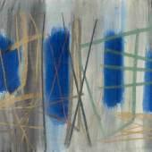 """Winter, Fritz (Altenbögge 1905–1976 Diessen-St.-Georgen) """"Fenster"""". 1952. Mischtechnik auf Papier. Schätzpreis:5.000 - 7.000 CHF Schätzpreis:5.000 - 7.000 CHF"""