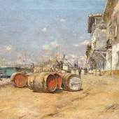Joan Roig Y Soler 1852 - 1909 Spanische Hafenansicht, Schätzpreis:1.000 - 1.500 EUR Zuschlagspreis:5.000 EUR