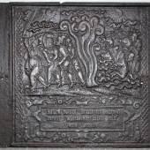 Ofenplatte, Gusseisen nach einem Holzschnitt von Sebald Beham aus dem Jahr 1533 (Werkverzeichnis Pauli 295), wohl Hessen, Anfang des 17. Jh., 73 x 77 cm  Schätzpreis:500 EUR