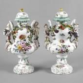 Paar Potpourri-Vasen Rokoko Mindestpreis:2.400 EUR