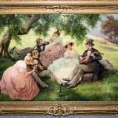 """Rudolf Alfred Höger, """"Picknick im Walde"""", Schätzpreis:1.800 - 2.000 EUR"""