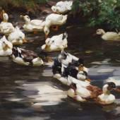 Koester, Alexander zugeschrieben: Enten auf dem Teich. Mindestpreis: 6.000 EUR