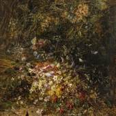 Olga Wisinger-Florian  Herbstfeldblumen, 1885 Öl auf Holz, 66 x 49 cm Schätzpreis:40.000 - 60.000 EUR