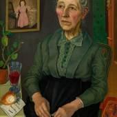 Rudolf Wacker  Bildnis meiner Mutter (in ihrem 72. Lebensjahr), 1926 Öl auf Leinwand, 77 x 58 cm  Schätzpreis:200.000 - 400.000 EUR