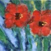 Karl Stark (1921-2011) Mohnblüten, 1976, Aquarell auf Papier, 47 x 64,5 cm, Schätzpreis:1.600 EUR