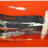 Josef Steiner, Informel rot/schwarz, Ölgemälde, gerahmt Josef Steiner, 1899 – 1977, Mindestpreis:890 EUR