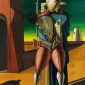 Giorgio de Chirico, 1888 Volos - 1978 Rom IL TROVATORE Öl auf Leinwand. 80 x 60 cm. Schätzpreis:500.000 - 700.000 EUR