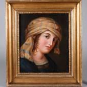 Johann Heinrich Wilhelm Tischbein, attr., Mädchenportrait, Mindestpreis:4.500 EUR