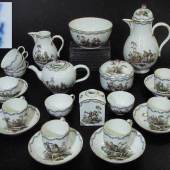 Marcolini Kaffee-/Teeservice. MEISSEN 1774 - 1815. Genreszenen  Mindestpreis:900 EUR