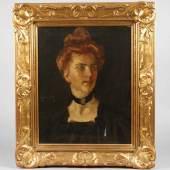 William Merritt Chase, Portrait einer jungen Frau, Mindestpreis:1.200 EUR