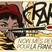 """Roy Lichtenstein (1923 New York - 1997 ebenda) """"Crak!"""" Originaltitel, Mindestpreis:8.500 EUR"""