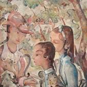 Kölschbach, Joseph 1892 Köln - 1947 Rhöndorf. Sonntag im Park. Mindestpreis:2.800 EUR