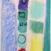 """ACKERMANN Max (1887 Berlin - 1975 Bad Liebenzell-Unterlengenhardt) """"Farbenturm"""" Farbpastell auf Papier, signiert und 7.I.74 datiert, 44x24cm, Verzeichnisnummer: ACK3858, R Mindestpreis:2.500 EUR"""