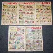 Le Journal de Mickey, 4 frühe Ausgaben, Frankreich 1937 Schätzpreis:80 - 100 EUR