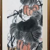 Qi Baishi, Kürbisse und Libelle, China um 1940/50 Qi Baishi, 1864 – 1957, bedeutendster chinesischer Maler der Moderne Schätzpreis:20.000 - 25.000 EUR