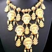 Etruskische Parure. Vermutlich Reproduktion von Casstellani, großes Kollier mit 6 Frauenköpfchen Aufrufpreis:4.200 EUR