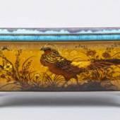Jardiniere von Théodore Deck im Japonismus-Stil Cremefarbener Fayencescherben.  Aufrufpreis:2.500 EUR