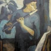 "Kandt, Manfred (1922 Danzig – 1992 Rostock) ""Flötenspielerin mit Aphelandra"", Aufrufpreis:5.000 EUR"