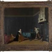 Gerritsz Pot, Hendrik , Haarlem 1585 - Amsterdam 1657. Der Rosenkrieg - Streitendes Paar in einem Interieur, 1630er Jahre, Schätzpreis:2.500 EUR