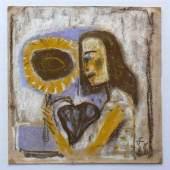 """Dix, Otto (1891 Gera - 1969 Singen) """"Mädchen mit Sonnenblume"""". Mindestpreis:10.000 EUR"""