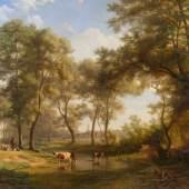 """Johannes (Hans) BECKMANN (1809-1882) """"Landschaft in Prien am Chiemsee"""" Mindestpreis:5.200 EUR"""