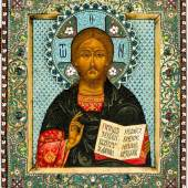 Christus Pantokrator  Russische Ikone, 20. Jh., Schätzpreis:10.000 - 15.000 EUR