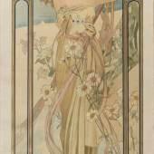 Alphonse Mucha, 'Éclat du jour' aus 'Heures du jour', 1899 'Éclat du jour' aus 'Heures du jour', 199  Aufrufpreis:2.800 EUR Schätzpreis:2.800 - 3.800 EUR