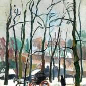 """Raoul Dufy, 1877 Le Havre """""""" 1953 Forcalquier CALÈCHE À FALAISE, 1905 Öl auf Leinwand. 78 x 64 cm. Links unten signiert. Schätzpreis:350.000 - 550.000 EUR"""