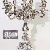Girandole. 925er Sterlingsilber. 20. Jahrhundert. Prunkvoller acht-flammiger barocker Standleuchter...  Mindestpreis:500 EUR