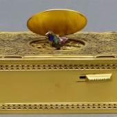 Singvogelautomat von Karl Greisbaum, 1872 - 1941, Spieldose mit sich bewegendem Singvogel, Mindestpreis:500 EUR