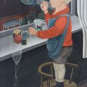 """Erich Wegner 1899 Gnoien - 1980 Hannover - """"Klaus am Fenster"""" - Öl/Lwd. 89 x 62 cm. Sign. r. u.: Wegner. Originaler Künstlerrahmen. Aufrufpreis:30.000 EUR Schätzpreis:40.000 EUR"""