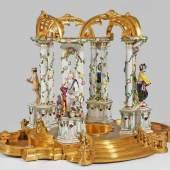 Historisch bedeutender und äußerst seltener Tempel aus einem Dessertaufsatz Zarin Katharina II.von Russland, Mindestpreis:48.000 EUR